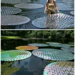 Upcycled Cds: Water Lilies