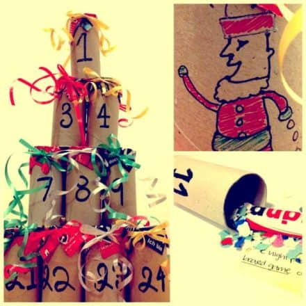 Advent Calendar From Recycled Toilet Paper Roll