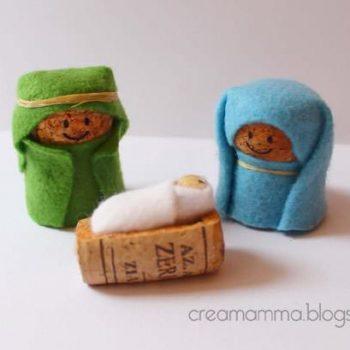 Corks & Felt Nativity
