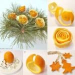 Diy: Christmas Bouquet Out Of Orange Peel