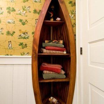 Custom boat bookcase