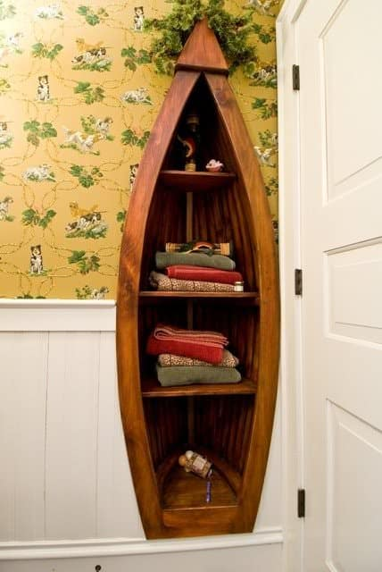 Custom Boat Bookcase