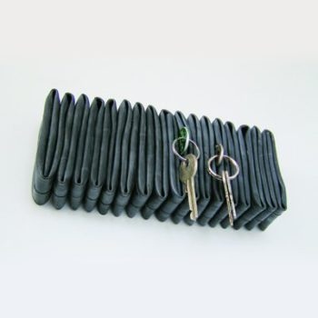 Inner tube key hanger & office accessory