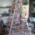 Ladder Into Christmas Tree