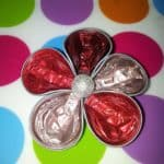 Nespresso Capsules Into Flower Shape Brooches