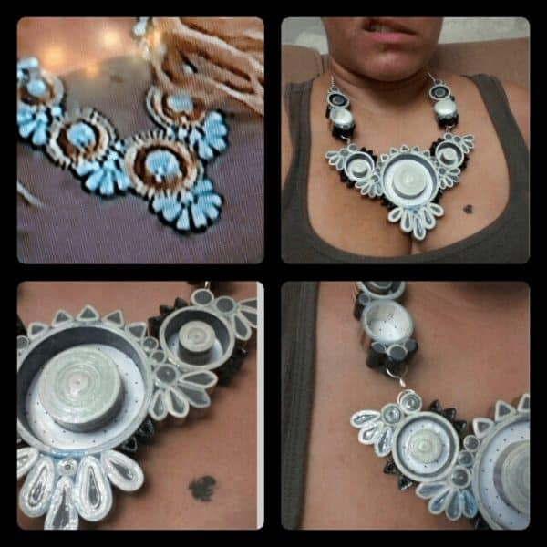 Paper Necklace Or Paper Plywood Accessories Do-It-Yourself Ideas Upcycled Jewelry Ideas