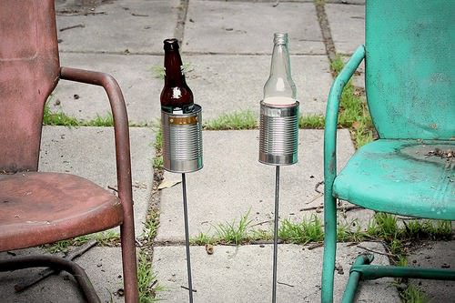 Repurposed Can Beer Holder Recycling Metal