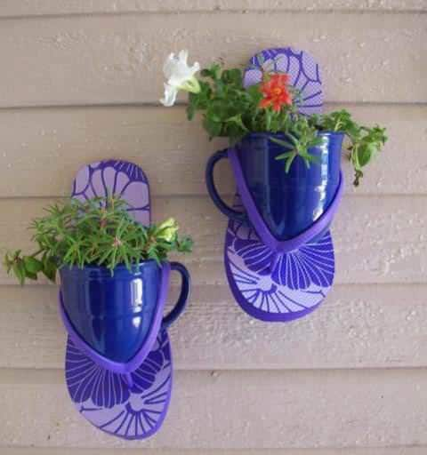 Thongs Planters Accessories Recycled Plastic