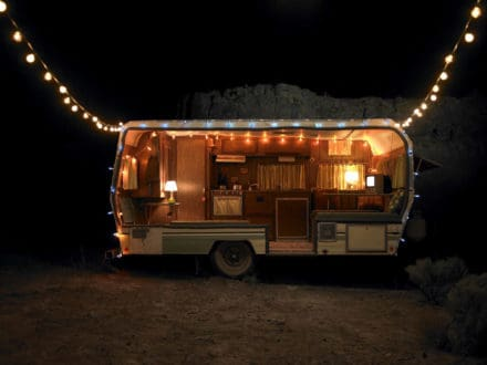 Upcycled Caravan Into Art & Design Shop