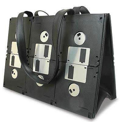 Upcycled Floppy Disk Purse Accessories Recycled Electronic Waste