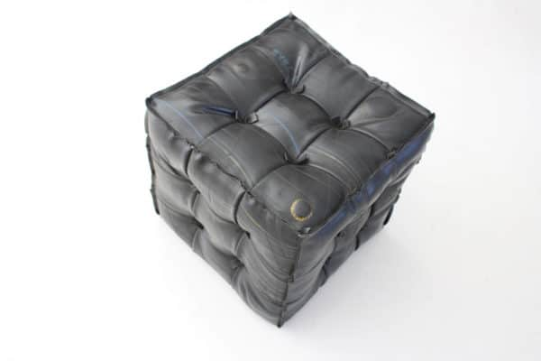 Tire Tube Pouffe Recycled Furniture Upcycled Bicycle Parts