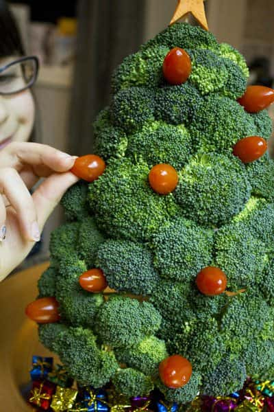 Broccoli Christmas Tree Wood & Organic