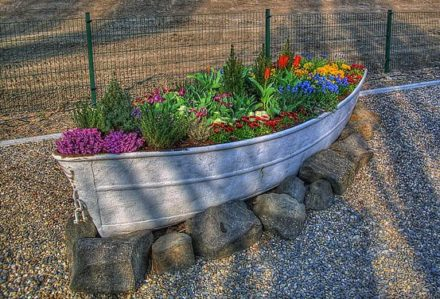 Old Boat Planter