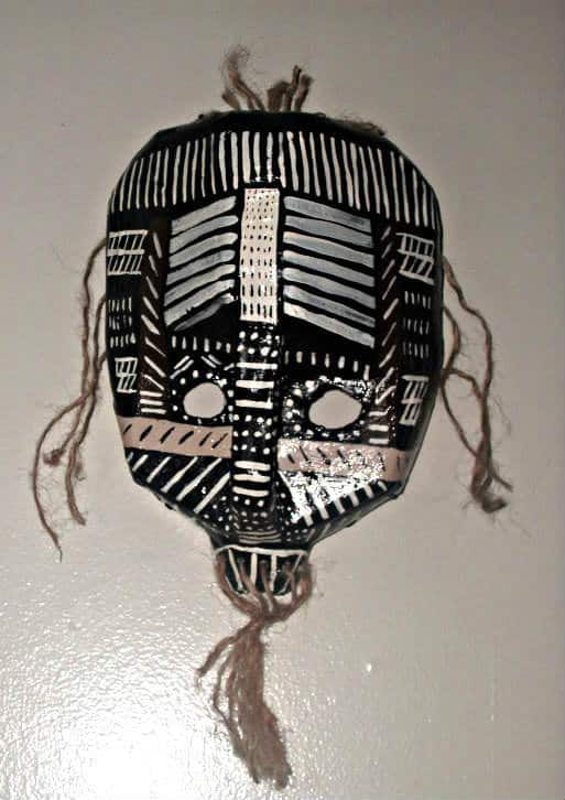 African Mask Recycled Art Recycling Paper & Books