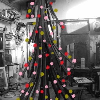 Wine Barrel Christmas Tree