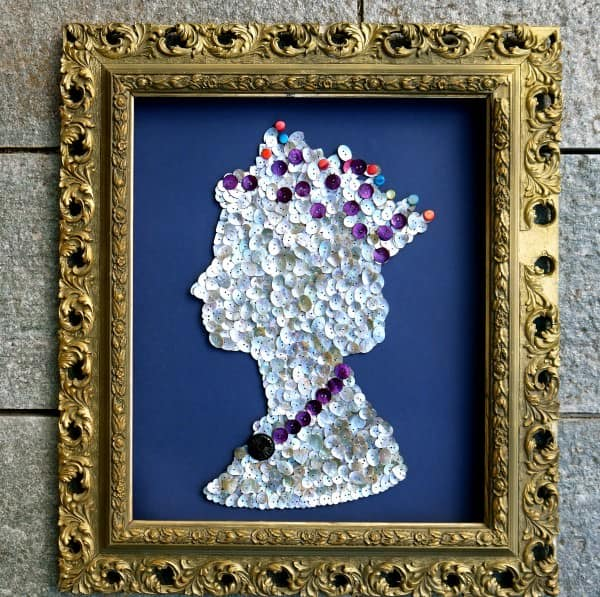 Recycled Buttons Artwork Recycled Art