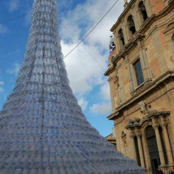 Christmas Tree Made From 1750 Recycled Plastic Bottles