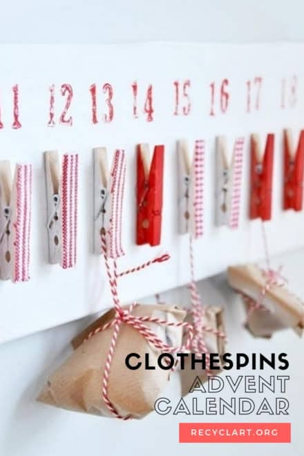 Clothespins Advent Calendar