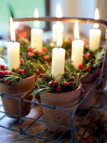 Diy: Christmas Centerpiece Do-It-Yourself Ideas Wood & Organic