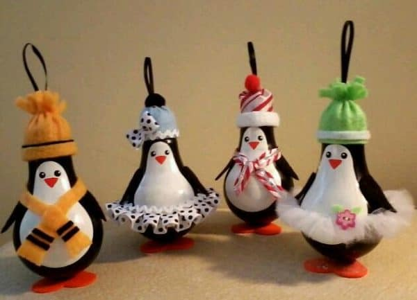 Recycled Christmas Bulb Decorations