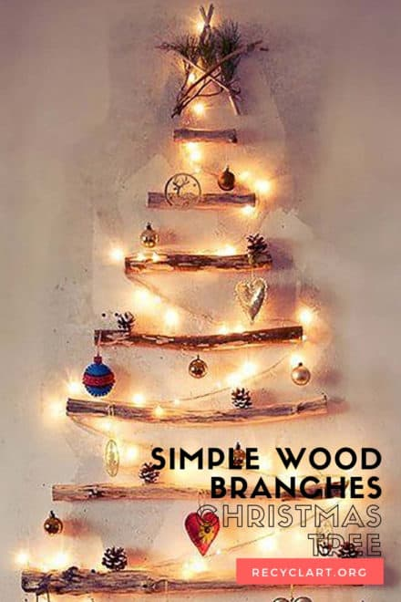 Simple Wood Branches Christmas Tree