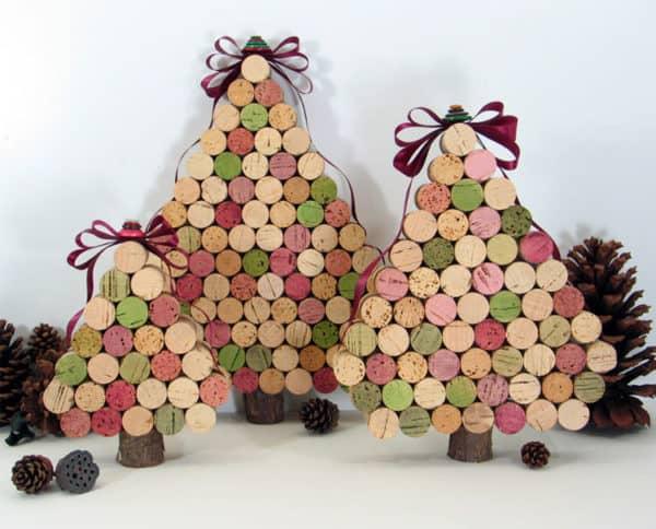Wine Cork Christmas Tree Recycled Cork