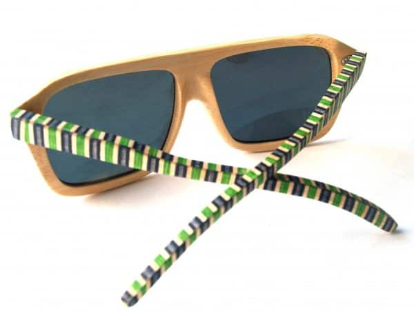 Recycled Skateboard Sunglasses Accessories Recycled Sports Equipment Wood & Organic