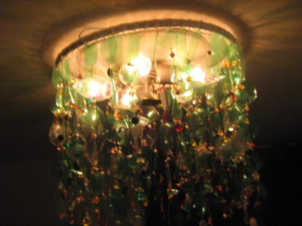 My Green Bottles Chandelier Lamps & Lights Recycled Plastic