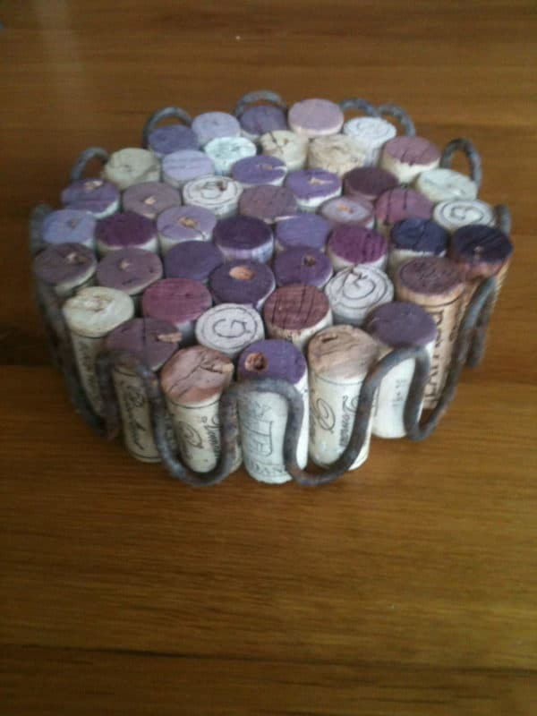 Wine Corks Trivet Accessories Do-It-Yourself Ideas Recycled Cork