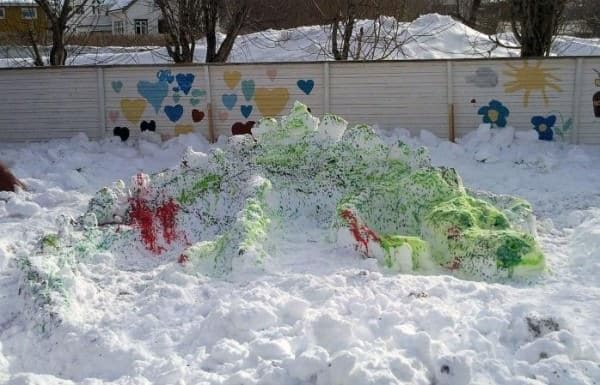 Snow-art Do-It-Yourself Ideas Recycled Art