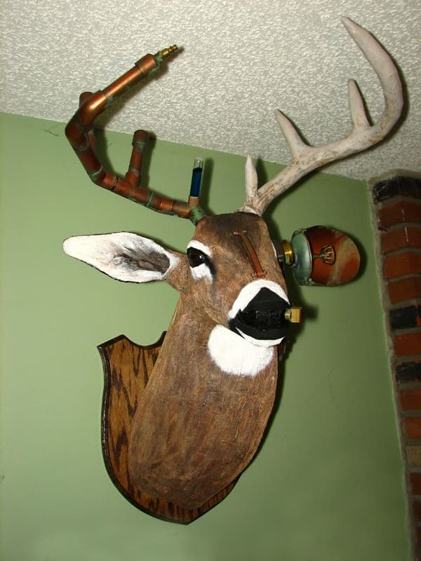 Steampunk Whitetail Deer Recycled Art