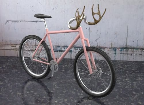 Antlers Bike Upcycled Bicycle Parts