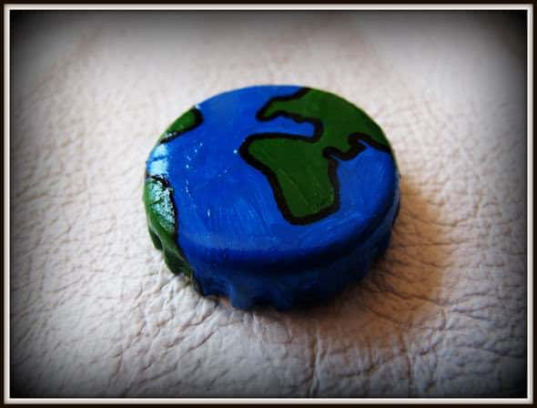 Handpainted Bottle Caps Jewelry Accessories Upcycled Jewelry Ideas