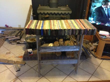 Re-cycled TV Stand