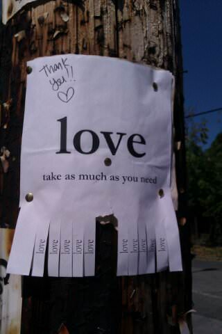 Love Take As Much As You Need Recyclart