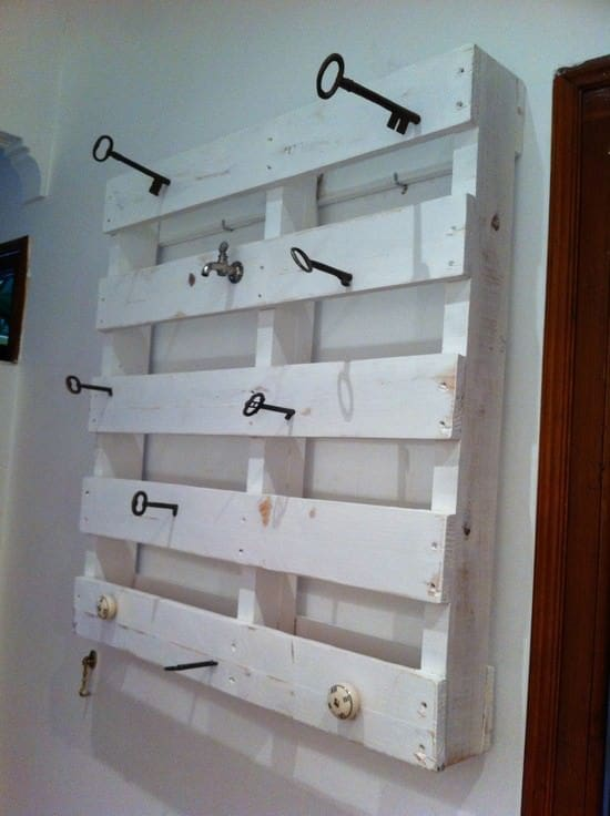 Pallet & Key Coat Rack Accessories Recycled Pallets