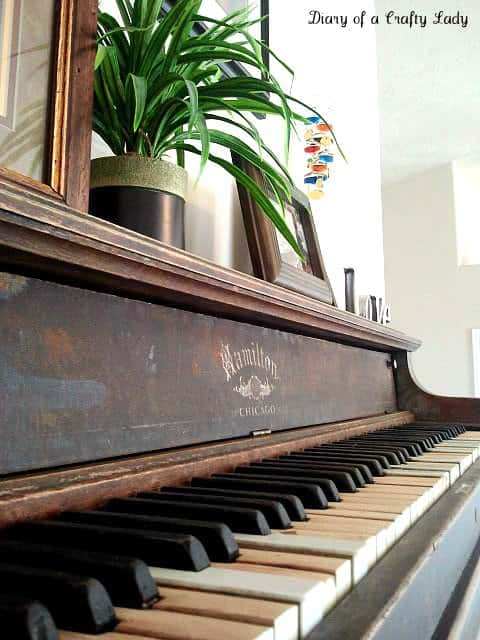 Piano Wall Shelf Recycled Furniture
