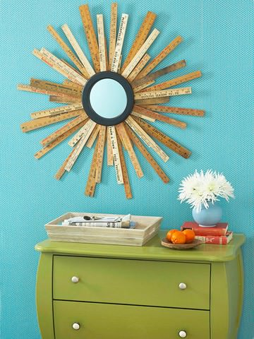 Diy: Yardstick Mirror Accessories Do-It-Yourself Ideas