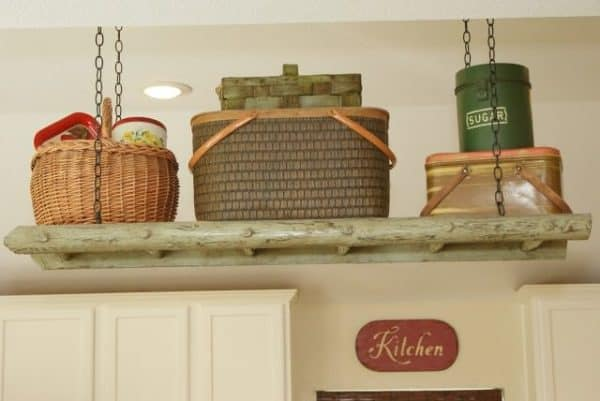 Ladder Up: Storage for Your Kitchen Wood & Organic