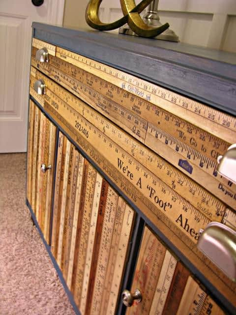 Stunning Buffet Made From Upcycled Yardsticks Recycled Furniture