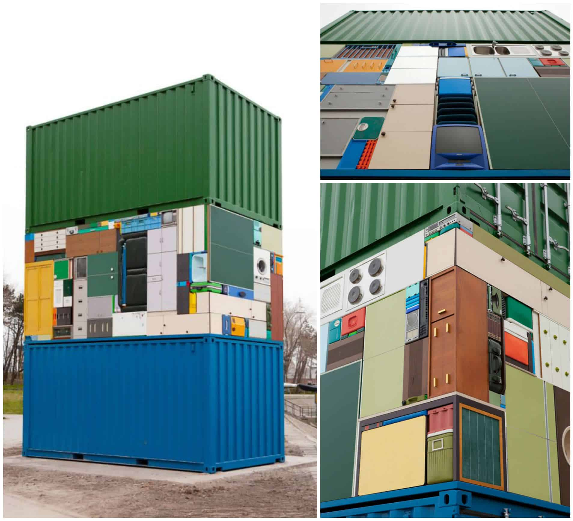 The Move Overseas Containers Households Items Sculpture Recyclart