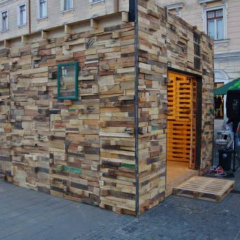 Wood Art Pavilion from Recycled Pallets