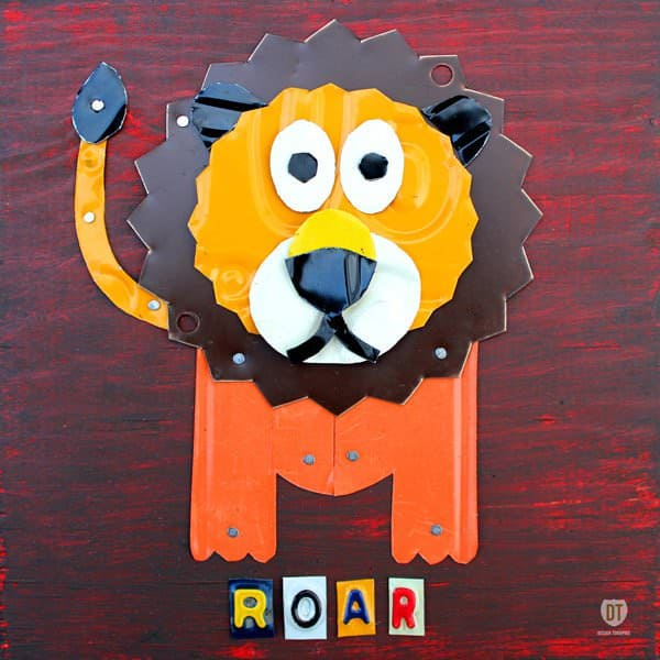 License Plate Animals Mechanic & Friends Recycled Art Recycling Metal