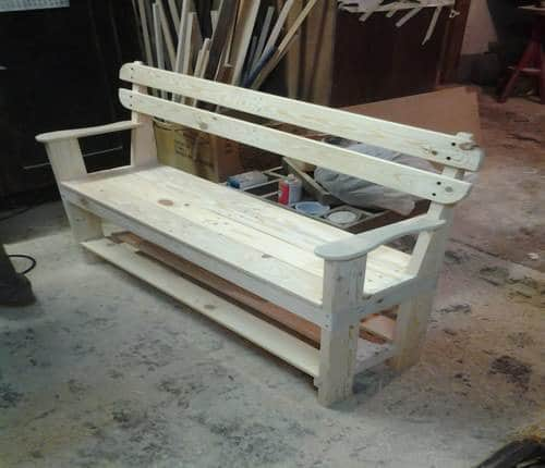 Garden Bench Recycled Furniture Wood & Organic