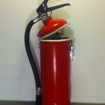 Fire Extinguisher Upcycled Into Liquor Container