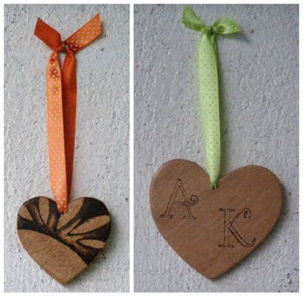 Handmade Wooden Hearts