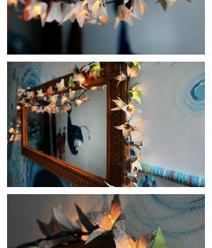 100 lights made from egg cartons
