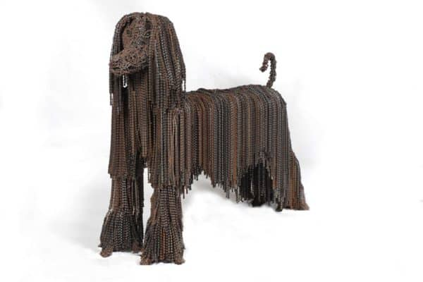 Recycled Bicycle Chains Dogs by Nirit Levav Recycled Art Upcycled Bicycle Parts