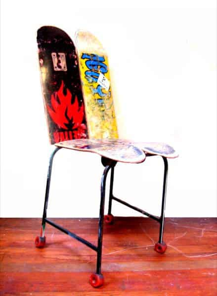 Skateboard Chair • Recyclart