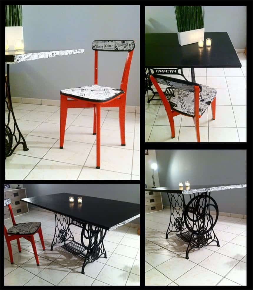 100 recycled furniture recyclart - Table a manger et chaise ...